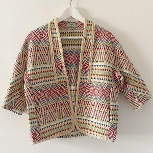 Miss K tapestry batik art to wear shacket jacket